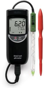 Фото HI 99121 pH-метр/термометр для почв и торфа (pH/T)