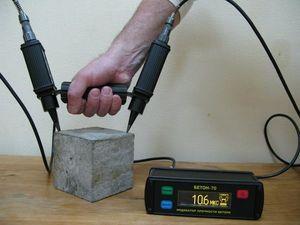 Фото БЕТОН-70 ультразвуковой дефектоскоп для определения прочности бетона и кирпича