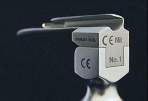 """Фото KaWe 03.12020.602 ларингоскоп со стандартной оптикой (лампой) (Клинок """"МИЛЛЕР"""" №0, прямой)"""