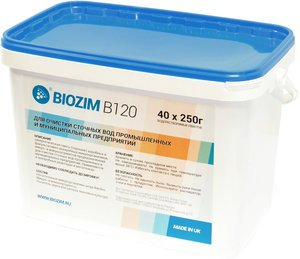 Фото BIOZIM B120 биопрепарат для очистки сточных вод в системе с анаэробным реактором, в метантенках (ведро/10кг)