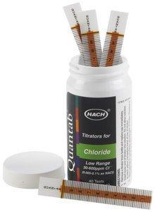 Фото HACH 27449-40 тест-полоски на хлорид (30-600 мг/л, уп/40 штук)