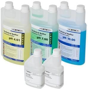 Фото WTW 108826 SORT/TEP/TRACE Буфер 4/7/10,01 (по 1 л каждого), 3 моль/л KCl (250 мл), очищающий раствор пепсина (250 мл)