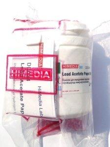 Фото HiMedia DD034-1VL Полоски для определения продукции сероводорода микроорганизмами (1фл.х25дисков)