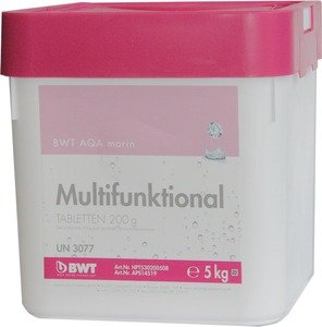 Фото BWT AQA marin Multifunktional Tabletten 14519 Многофункциональный препарат для дезинфекции бассейна (200 гр, 5 кг)