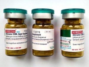 Фото HiMedia FD278-5VL Добавка для осн.агара HiCrome для обнаружения бактерий (1уп.х5фл.)