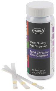 Фото HACH 2745050 Тест-полоски на хлор (50 тестов)