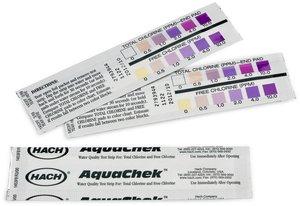 Фото HACH 2793944 Тест-полоски на свободный и общий хлор (250 тестов)