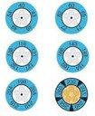 testo 0646 0075 самоклеющиеся термо-индикаторы 143-166 °С (уп/10шт)