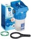 """Aquafilter FHPR5-1-WB Корпус из 3 частей с клапаном сброса давления (1"""" BSP, 5"""")"""